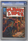 Magazines:Science-Fiction, Planet of the Apes #3 (Marvel, 1974) CGC VF+ 8.5 Off-white to whitepages. Bob Larkin cover. Mike Ploog and George Tuska art...