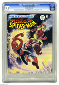 Magazines:Superhero, Spectacular Spider-Man #2 (Marvel, 1968) CGC NM- 9.2 Off-white towhite pages. Here's a copy of the short lived magazine-siz...