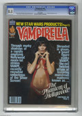 Bronze Age (1970-1979):Horror, Vampirella #69 (Warren, 1978) CGC VF+ 8.5 White pages. BarbaraLeigh photo cover. Jose Gonzalez and Jose Ortiz interior art....