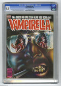 Modern Age (1980-Present):Horror, Vampirella #84 (Warren, 1980) CGC VF+ 8.5 Off-white to white pages.Steve Harris cover art. Val Mayerik and Rudy Nebres inte...