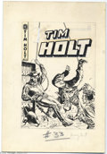 Original Comic Art:Covers, Frank Bolle - Tim Holt #33 Cover Original Art (MagazineEnterprises, 1953). Tim can rope and shoot at the same time-- w...