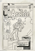 Original Comic Art:Covers, Bob Bolling - Life with Archie #249 Cover Original Art (Archie,1985). Archie cowers from a mysterious figure from his past ...