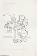 Original Comic Art:Covers, Western Publishing Artist - Walt Disney Daisy and Donald #7 CoverOriginal Art (Gold Key, 1974). Donald and Daisy Duck are s...