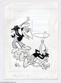 Original Comic Art:Covers, Western Publishing Artist New Terrytoons starring Heckle and Jeckle#17 Cover Original Art (Western, 1972). Those irrepressi...