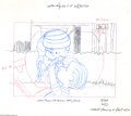 Original Comic Art:Miscellaneous, Peanuts - Animation Preliminary Drawing Original Art (undated). Linus assists in adjusting his brother Rerun's bicycle safet...