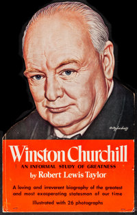 "Winston Churchill: an Informal Study of Greatness (Doubleday, 1952) Very Fine-. Tabletop Standee (13.75"" X 21.5&quo..."