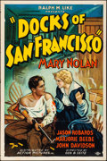 """Movie Posters:Crime, Docks of San Francisco (Action, 1932) Folded, Fine/Very Fine. One Sheet (27"""" X 41""""). Crime...."""