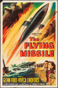 """Movie Posters:Drama, The Flying Missile (Columbia, 1950) Folded, Fine/Very Fine. One Sheet (27"""" X 41""""). Drama...."""
