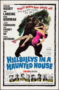 """Hillbillys in a Haunted House (Woolner Brothers, 1967) Folded, Fine/Very Fine. One Sheet (27"""" X 41""""). Comedy..."""
