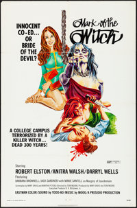 """Mark of the Witch & Other Lot (Presidio, 1970) Folded, Very Fine-. One Sheets (2) (27"""" X 41""""). Horror..."""