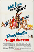 """Movie Posters:Action, The Silencers (Columbia, 1966) Folded, Fine/Very Fine. One Sheet (27"""" X 41""""). Robert McGinnis Artwork. Action...."""