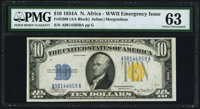 Fr. 2309 $10 1934A North Africa Silver Certificate. PMG Choice Uncirculated 63