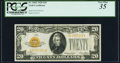 Fr. 2402 $20 1928 Gold Certificate. PCGS Very Fine 35