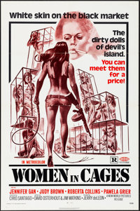 """Women in Cages & Other Lot (New World, 1971) Folded, Very Fine-. One Sheets (2) (27"""" X 41""""). Joseph Smith..."""