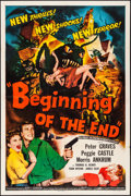 "Movie Posters:Science Fiction, Beginning of the End (Republic, 1957). Folded, Fine/Very Fine. One Sheet (27"" X 41""). Science Fiction.. ..."