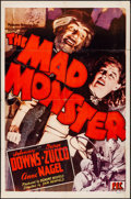 "Movie Posters:Horror, The Mad Monster (PRC, 1942) Folded, Fine+. One Sheet (27"" X 41""). Horror. . ..."
