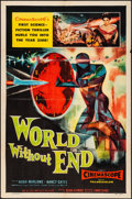 """Movie Posters:Science Fiction, World Without End (Allied Artists, 1956) Folded, Very Fine-. One Sheet (27"""" X 41""""). Science Fiction...."""