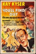 """Movie Posters:Comedy, You'll Find Out (RKO, 1940) Folded, Fine. One Sheet (27"""" X 41"""").Comedy...."""