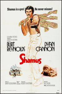 """Shamus & Others Lot (Columbia, 1972) Folded, Fine/Very Fine. One Sheets (3) (27"""" X 41""""), Lobby Card Se..."""
