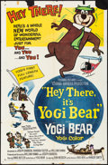 "Movie Posters:Animation, Hey There, It's Yogi Bear (Columbia, 1964) Folded, Fine+. One Sheet (27"" X 41"") & Lobby Card Set of 8 (11"" X 14""). Animation... (Total: 9 Items)"