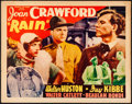 "Movie Posters:Drama, Rain (Atlantic, R-1938) Rolled, Fine+. Half Sheet (22"" X 28"").Drama. . ..."