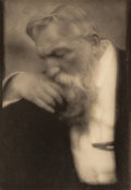 Photographs:Photogravure, Edward Steichen (American, 1879-1973). M. Auguste Rodin from Camera Work 34-35, 1911. Photogravure. 9-1/2 x 6-1/2 in...