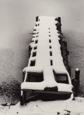Photographs:Gelatin Silver, Minor White (American, 1908-1976). Dock in Snow, Vermont, 1971. Gelatin silver, printed later. 12-1/8 x 8-7/8 inches (30...