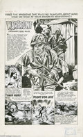 Original Comic Art:Splash Pages, Doug Wildey (attributed) - Warfront #32 Contents Splash PageOriginal Art (Harvey, 1958). Panel one, the large panel, is the...