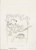 Original Comic Art:Covers, Western Publishing Artist - Winnie-the-Pooh #12 Cover Original Art(Gold Key, 1979). Pooh bear's nap is ruined by a prickly ...