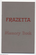 Books:First Editions, Frazetta Memory Book First edition (Frank Frazetta, 1977)Condition:. A near perfect copy of this limited book thatcontains...