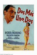 "Original Illustration Art:Mainstream Illustration, American Illustrator - Original Movie Poster Art (1934).. For ""DosMas Uno, Dos"" (Two But One, Two), starring Rosita Moreno ..."