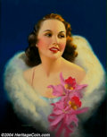 Original Illustration Art:Pin-up and Glamour Art, Edward M. Eggleston (1883-1941) Original Pin-up / Glamour Art(c.1930).. Published as a calendar print. Original works by th...(Total: 4 items Item)