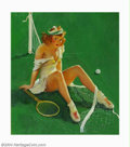 Paintings, Gillette Elvgren (1914-1980) Original Pin-up Art (1937-1942).. Net Results, published by the Louis F. Dow Calendar Compa... (Total: 4 items Item)