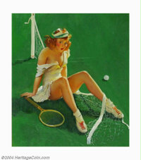 Gillette Elvgren (1914-1980) Original Pin-up Art (1937-1942). Net Results, published by the Louis F. Dow Calendar Compa...
