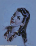 Original Illustration Art:Pin-up and Glamour Art, Merlin Enabnit (1903-1979) Original Illustration (c.1945).. Gouacheon paper, matted (19 x 14.5), sight size approximately 1...