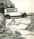 Original Illustration Art:Mainstream Illustration, Laurence Fellows (1885-1964) - Attributed - Original AdvertisingArt (c.1920).. For a 1928 or 1929 Model A Ford.. Pen and in...