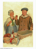 Original Illustration Art:Mainstream Illustration, Percy D. Johnson - Original Illustration (1925-1930).. Probably acover painting for The Country Gentleman or Farm and...