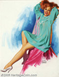 Original Illustration Art:Pin-up and Glamour Art, Earl Steffa Moran (1893-1984) Original Pin-up Art (c.1956)..Published by the Brown & Bigelow Calendar Company, St. Paul,Mi... (Total: 3 items Item)