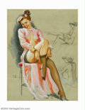 Original Illustration Art:Pin-up and Glamour Art, K. O. Munson - Original Pin-up Art (c.1945-1955).. Published by theBrown & Bigelow Calendar Company as part of Munson'sS...