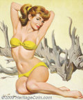 Original Illustration Art:Pin-up and Glamour Art, Arthur Sarnoff (1912-2000) Original Pin-up Art (c.1960).. Gouacheon board, framed (24 x 20), sight size approximately 21 x ...