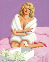 Arthur Sarnoff (1912-2000) Original Pin-up (1993). Oil on canvas, approximately 30 x 24. Signed and dated (93) lower rig...
