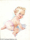 Original Illustration Art:Mainstream Illustration, Helen Schad - Original Calendar Art (c.1940)....
