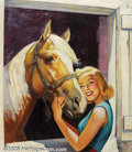 Original Illustration Art:Mainstream Illustration, Ellen Barbara Segner - Original Illustration (c.1960).. Most likelypublished as a magazine cover, or calendar.. Oil on canv...