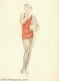 Original Illustration Art:Mainstream Illustration, Charles Gates Sheldon (1889-1960) Original Illustration (c.1930)..Most likely published as a fashion advertisement.. Pastel...