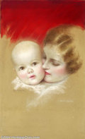 Original Illustration Art:Mainstream Illustration, Charles Gates Sheldon (1889-1960) Original Magazine Cover Art(1925-1930).. Parents magazine.. Pastel on board, image si...