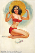 Original Illustration Art:Pin-up and Glamour Art, T. N. Thompson - Original Pin-up Art (1956).. 3-D Feature,published as a calendar, most likely by the Shaw-Barton Calen...(Total: 2 items Item)