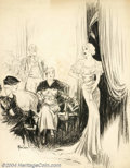"Original Illustration Art:Mainstream Illustration, Raeburn Van Buren (1891-1987) Original Illustration (c.1930)..Titled: Just the Thing! Caption (in part): ""It's not the ..."