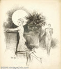 Original Illustration Art:Mainstream Illustration, Raeburn Van Buren (1891-1987) Original Illustration (1936)..Published as a nationally syndicated newspaper-section cover or...
