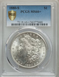 Morgan Dollars, 1880-S $1 MS66+ PCGS Secure. PCGS Population: (11104/2546). NGC Census: (11787/3526). MS66. Mintage 8,900,000....