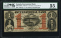 Canadian Currency, Toronto, CW- International Bank of Canada 1 Dollar 15.9.1858 Ch. # 380-10-10-04a PMG About Uncirculated 55.. ...